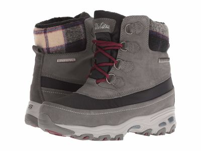 Skechers - Skechers Women Charcoal D'Lites Ankle Bootsbooties