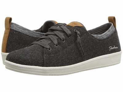 Skechers - Skechers Women Charcoal Madison Ave Lifestyle Sneakers