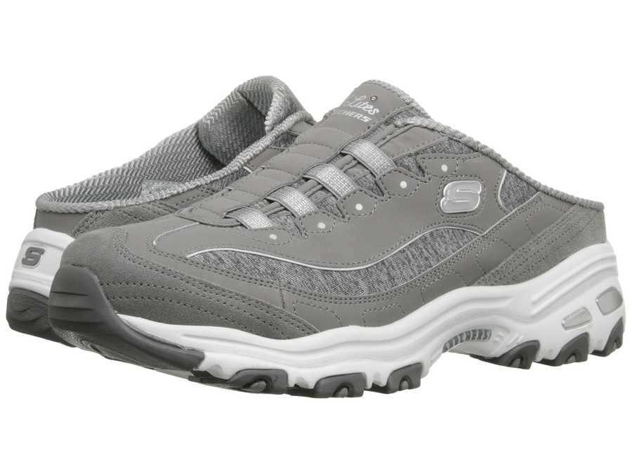 Skechers Women Gray D'Lites - Resilient Lifestyle Sneakers