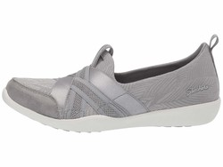 Skechers Women Gray Newbury Street - True Finds Lifestyle Sneakers - Thumbnail