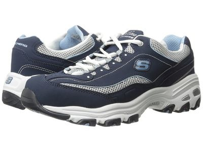 Skechers Women Navy D'Lites - Life Saver Lifestyle Sneakers