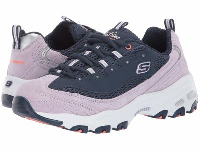 Skechers - Skechers Women Navy/Lavender D'Lites - Moon View Lifestyle Sneakers