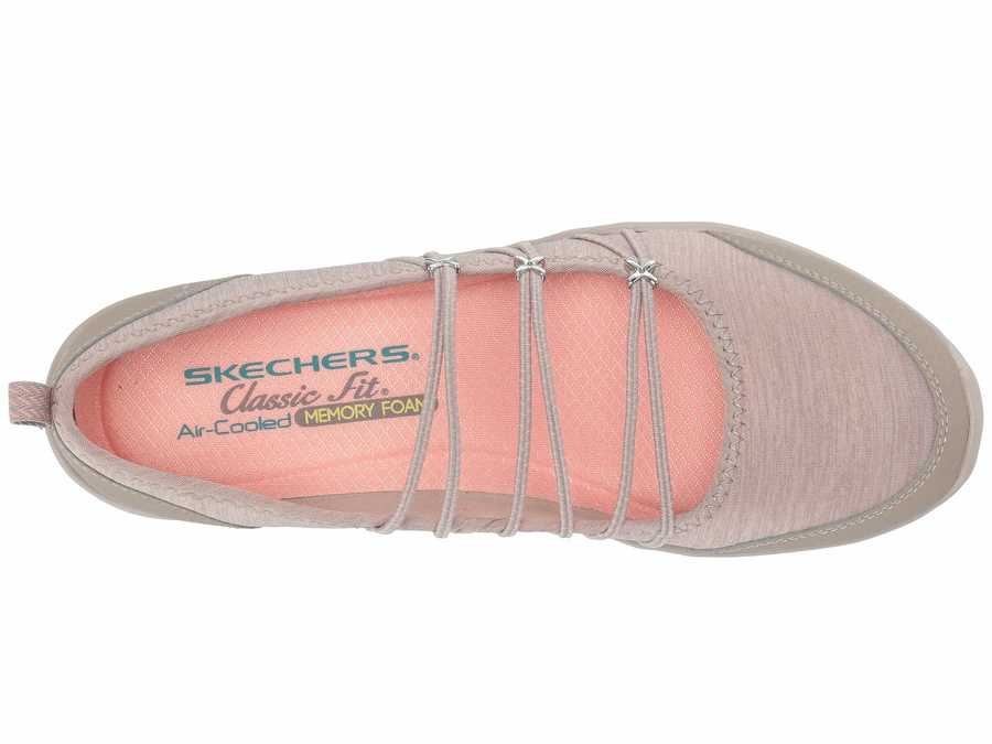 Skechers Women Taupe Be-Lite - What-A-Twist Flats