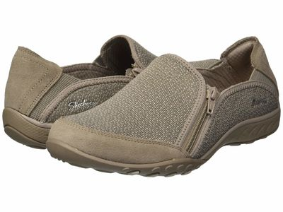 Skechers - Skechers Women Taupe Breathe-Easy - Quiet-Tude Lifestyle Sneakers