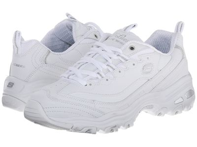 Skechers - Skechers Women White D'Lites - Fresh Start Lifestyle Sneakers