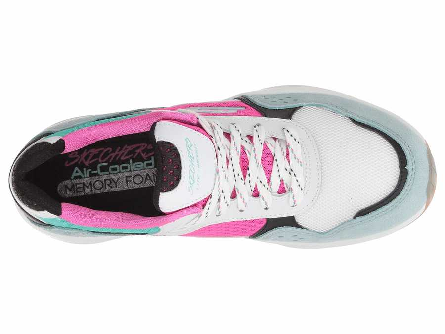 Skechers Women White Multi Meridian - Charted Lifestyle Sneakers