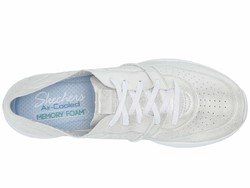 Skechers Women White Seager - Major League Lifestyle Sneakers - Thumbnail
