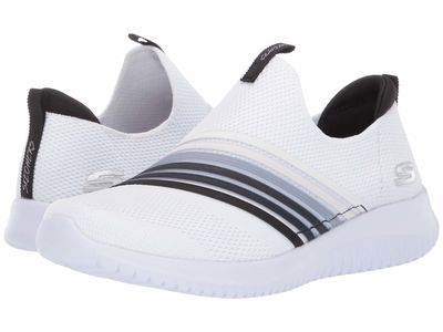 Skechers - Skechers Women White/Black Ultra Flex - Brightful Day Lifestyle Sneakers