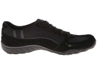 Skechers - SKECHERS Women's Black/Charcoal Relaxed Fit: Breathe Easy - Just Relax Sneakers Athletic Shoes 8361587133