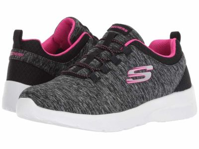 Skechers - SKECHERS Women's Black Hot Pink Dynamight 2.0 - In A Flash Lifestyle Sneakers
