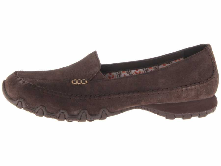 mareado Que Lago taupo  SKECHERS Women's Chocolate Relaxed Fit Bikers - Pedestrian Flats Outlet  Shoesc