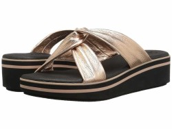 SKECHERS Women's Rose Gold Hush Hush - Camp Summer Heeled Sandals - Thumbnail