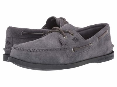Sperry - Sperry Men Grey 3 A/O 2-Eye Suede Boat Shoes