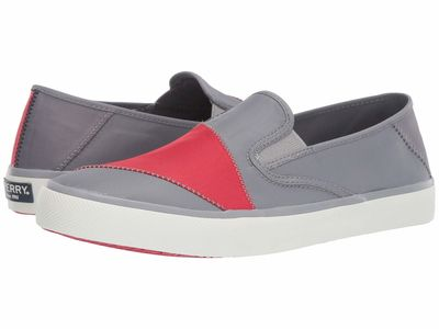 Sperry - Sperry Men Grey/Red Captain'S Slip-On Bionic Lifestyle Sneakers