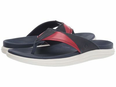 Sperry - Sperry Men Red/White/Blue Regatta Thong Flip Flops