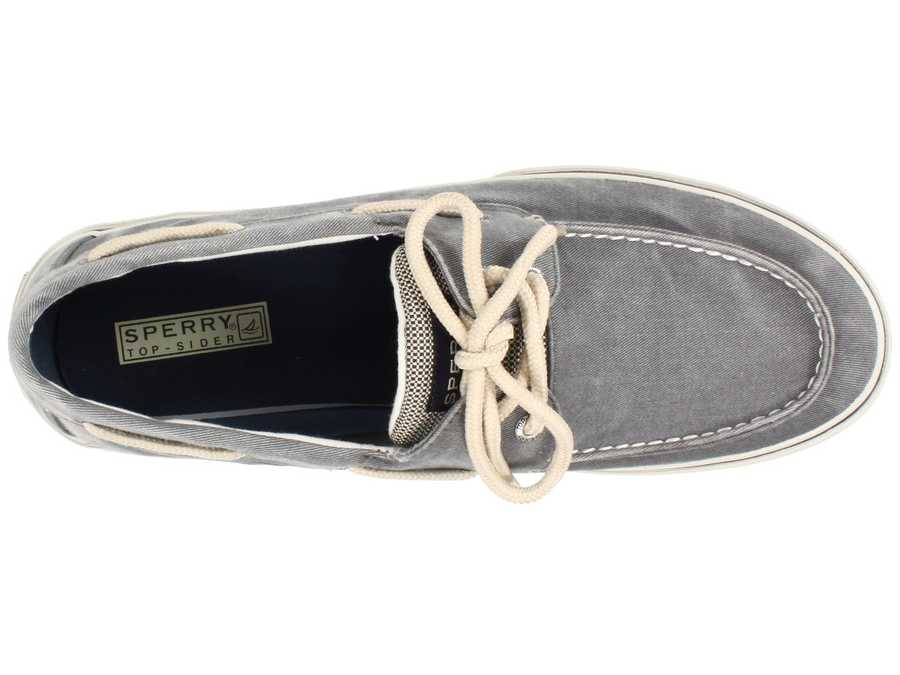 Sperry Men Salt Washed Grey Halyard 2-Eye Boat Shoes