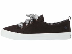 Sperry Women Black Crest Vibe Gingham Lace Lifestyle Sneakers - Thumbnail