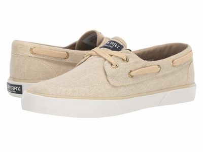 Sperry Women Champagne Pier Boat Sparkle Canvas Lifestyle Sneakers