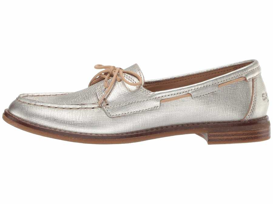 Sperry Women Gold Seaport Boat Boat Shoes