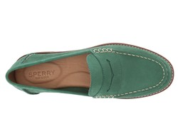 Sperry Women Green Seaport Penny Loafers - Thumbnail
