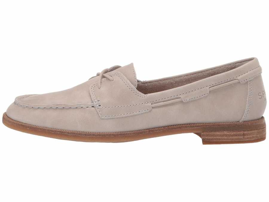 Sperry Women Grey Seaport Boat Boat Shoes