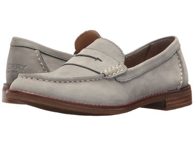 Sperry - Sperry Women Grey Seaport Penny Loafers