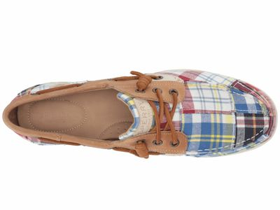 Sperry - Sperry Women Navy Multi/Tan/Madras Songfish Prep Boat Shoes