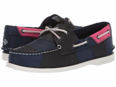 Sperry - Sperry Women Navy/Hot Pink/Green Authentic Original 2-Eye Bionic Boat Shoes