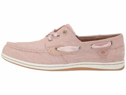 Sperry Women Pink Songfish Linen Boat Shoes - Thumbnail