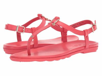 Sperry - Sperry Women Red Saltwater Sandal Buckle Flat Sandals