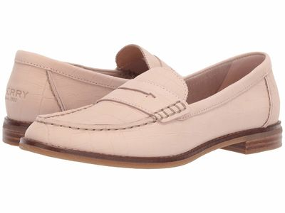 Sperry - Sperry Women Rose Dust Seaport Penny Croc Loafers