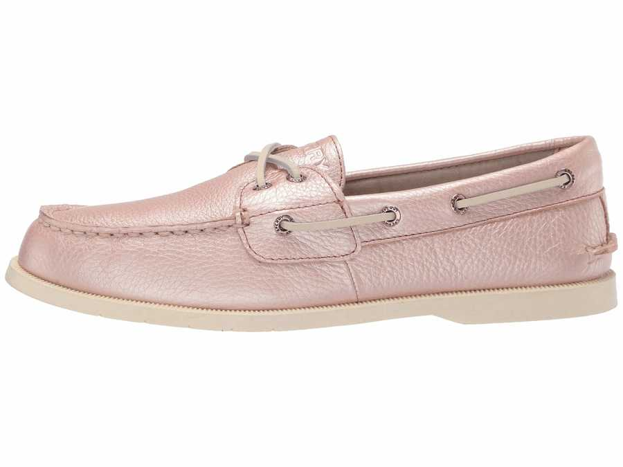 Sperry Women Rose Gold Conway Boat Boat Shoes