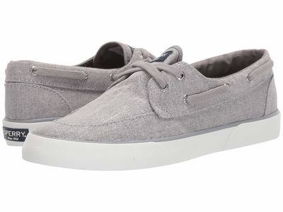 Sperry - Sperry Women Silver Pier Boat Sparkle Canvas Lifestyle Sneakers