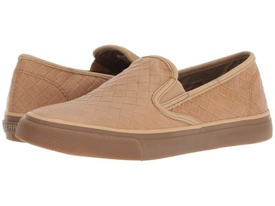 Sperry Women Tan Seaside Emboss Weave Lifestyle Sneakers