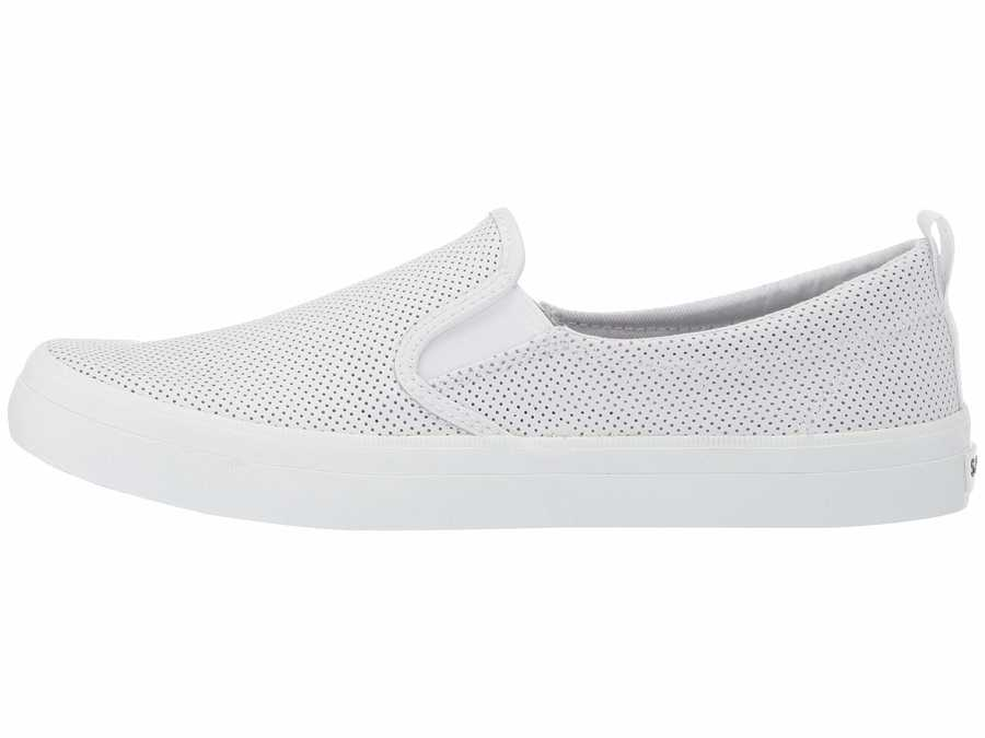 Sperry Women White Crest Twin Gore Mini Perf Lifestyle Sneakers