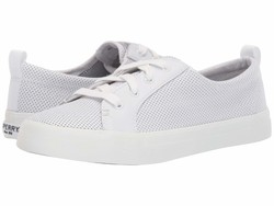 Sperry Women White Crest Vibe Mini Perf Lifestyle Sneakers - Thumbnail