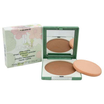 Clinique - Stay-Matte Sheer Pressed Powder - # 10 Stay Amber (D) - Dry Combination To Oily 0,27oz