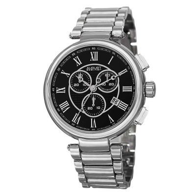 August Steiner - Steiner Men's Swiss Quartz Chronograph Bracelet Watch AS8148SSB