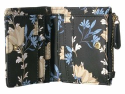 Steve Madden Black Floral French Smooth Wallet Bi-Fold Wallet - Thumbnail