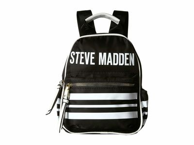 Steve Madden - Steve Madden Black Mini Force Stripe Backpack
