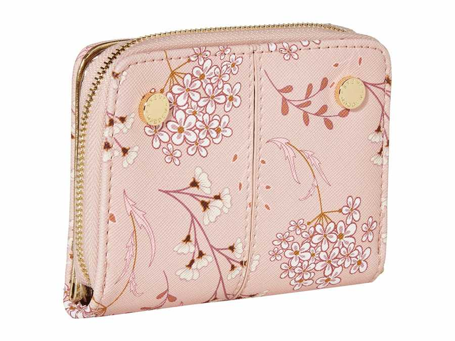 Steve Madden Blush Floral French İndexer Wallet Bi-Fold Wallet