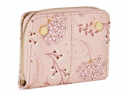 Steve Madden Blush Floral French İndexer Wallet Bi-Fold Wallet - Thumbnail