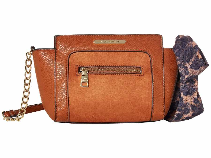 Steve Madden Leopard Cognac Btara Cross Body Bag