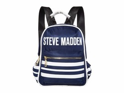 Steve Madden Navy Mini Force Stripe Backpack - Thumbnail