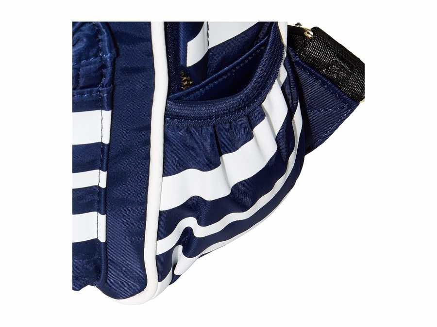 Steve Madden Navy Mini Force Stripe Backpack