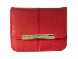 Steve Madden Red Accordion Wallet Coin Card Case - Thumbnail