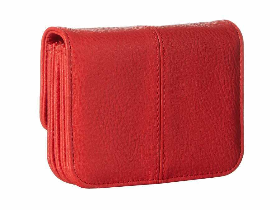 Steve Madden Red Accordion Wallet Coin Card Case
