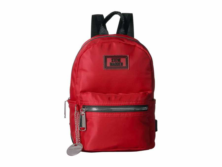 Steve Madden Red Bbailey Nylon Backpack