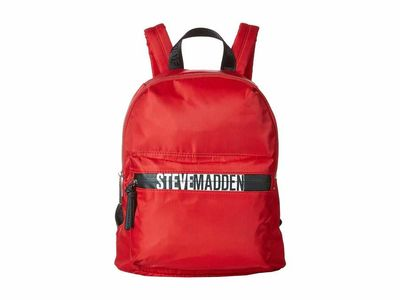 Steve Madden - Steve Madden Red Bpack - Logo Zip Backpack
