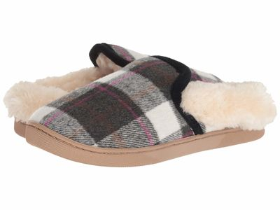 Steve Madden - Steve Madden Women Black Plaid Sunny Slippers